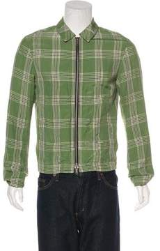 Haider Ackermann Plaid Zip-Up Jacket