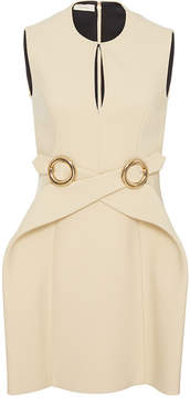 DELPOZO Sleeveless Wrap Buckle Dress