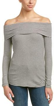 Three Dots Folded Off-the-shoulder Top.