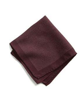 Todd Snyder Italian Wool Burgundy Pocket Square