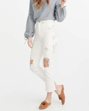 Abercrombie & Fitch High Rise Ankle Straight Jeans
