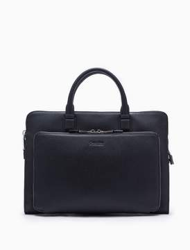 Calvin Klein engineered business micro pebble leather portfolio