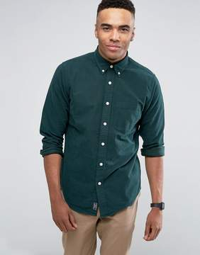 Abercrombie & Fitch Oxford Shirt Slim Fit in Dark Green