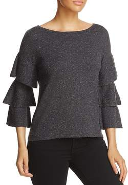 Design History Tiered-Sleeve Sweater