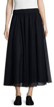 Peserico Pleated Tulle Skirt