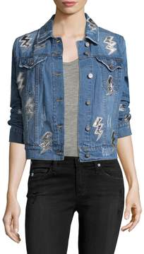 Bagatelle Women's Lightening Bolts Cotton Jacket