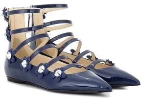 Fendi Embellished patent leather sandals