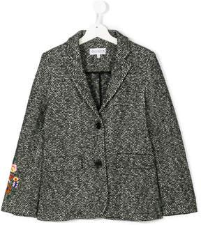 Simonetta flora embroidery blazer