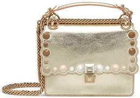 Fendi Kan I Gold Leather Mini-bag