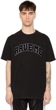 Misbhv Rave Me Patch Cotton Jersey T-Shirt