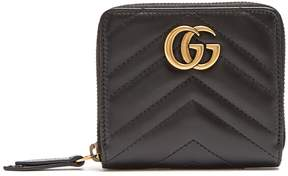 Gucci GG Marmont quilted-leather wallet - BLACK - STYLE
