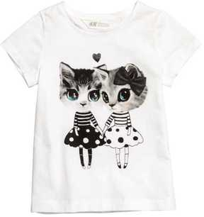 H&M Jersey Top with Printed Design