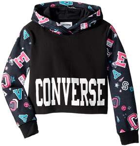 Converse Printed Cropped Pullover Girl's Sweatshirt