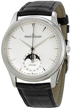 Jaeger-LeCoultre Jaeger Lecoultre Master Silver Dial Leather Men's Watch
