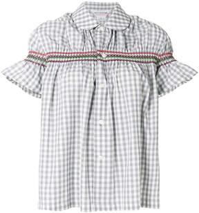 Comme des Garcons gingham stitch detail blouse