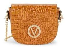 Mario Valentino Josette Crocodile Embossed Saddle Bag