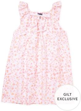 Oscar de la Renta Floral Ikat Casual Dress
