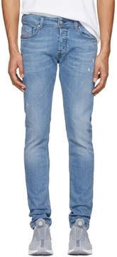 Diesel Blue Distressed Sleenker Jeans