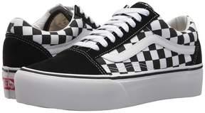 Vans Old Skool Platform Black/True White) Skate Shoes