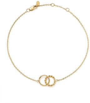 Bloomingdale's 14K Yellow Gold Interlocking Circle Ankle Bracelet - 100% Exclusive