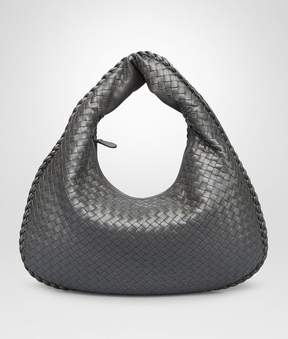 Bottega Veneta Light Gray Intrecciato Nappa Large Veneta Bag
