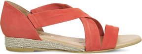 Office Hallie cross-strap suede sandals
