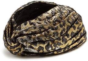 GUCCI Leopard-jacquard turban