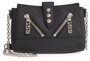 Kenzo Mini Kalifornia Grommato Leather Shoulder Bag - Black