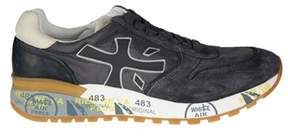 Premiata Men's Mick2819 Black Suede Sneakers.
