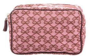 Anya Hindmarch Canvas Patterned Cosmetic Bag
