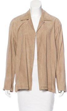 Calvin Klein Collection Suede Notch-Lapel Jacket