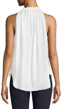 T Tahari Lynna High-Neck Sleeveless Blouse