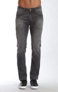 Mavi Jeans Jake Slim Straight Leg In Grey Distressed Williamsburg
