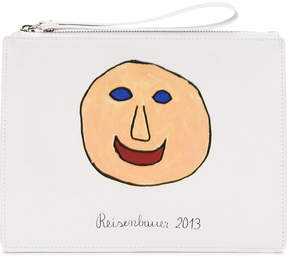 Christopher Kane printed face pencil case clutch