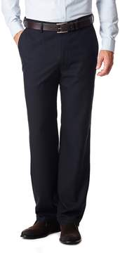 Haggar Men's No Iron Solid Straight-Fit Flat-Front Dress Pants