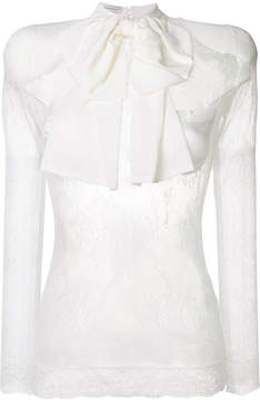 Faith Connexion sheer lace blouse with bow