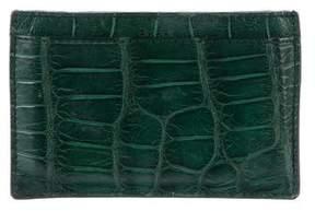 Gucci Crocodile Card Holder - GREEN - STYLE