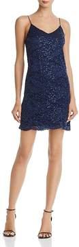 Aqua Sequined Lace Slip Dress - 100% Exclusive