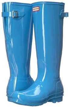 Hunter Original Back Adjustable Gloss Rain Boots Women's Rain Boots