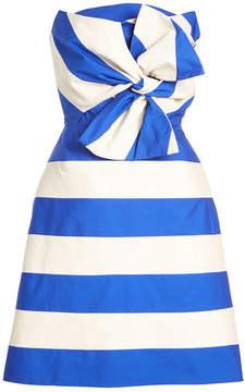 DELPOZO Bandeau Dress with Linen and Cotton