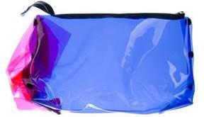 Roksanda Bicolor PVC Ruffle Clutch
