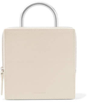 Building Block - Box Textured-leather Tote - Cream