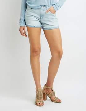 Charlotte Russe Refuge Girlfriend Destroyed Denim Shorts