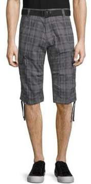ProjekRaw Belted Cotton Cargo Capris