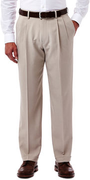Haggar eCLo Stria Classic-Fit Pleated Dress Pants