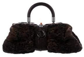 Christian Dior Leather-Trimmed Karenina Bag