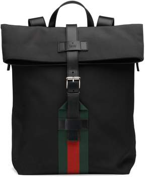 Gucci Techno canvas backpack - BLACK TECHNO CANVAS - STYLE