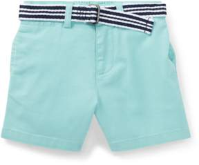Ralph Lauren | Belted Stretch Chino Short | 18-24 months | Parakeet