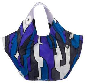 Emilio Pucci Leather-Trimmed Printed Hobo