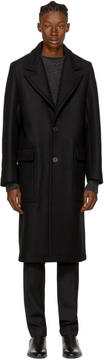 Ami Alexandre Mattiussi Black Long Loden Coat